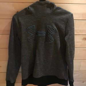 Under Armour black grey and blue hoodie